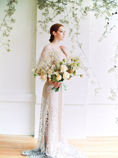 The Elle Gown, a gorgeous sheath lace wedding with flutter sleeves for the romantic bride.The lace details of gown, the organic backdrop from the soft yet strong look from and created for Scanned by Wedding Dress Shopping, Boho Wedding Dress, Wedding Gowns, Lace Wedding, Boho Bride, Flutter Sleeve, Lace Detail, Fit And Flare, Backdrops