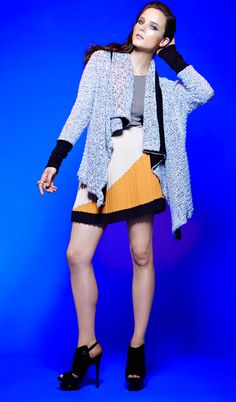 #MyImpulseIs Color! Mellow yellow. #bariii #sweater #pleats #skirt #macys BUY NOW!