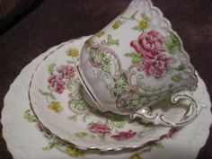 Vintage aynsley china trio cup/saucer/tea plate