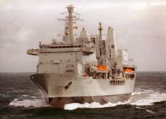 RFA Fort George at sea