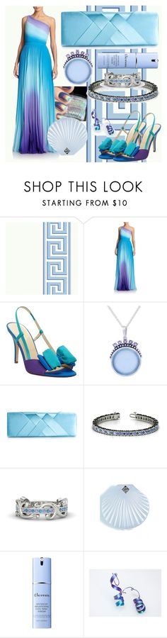 """""""Ocean's Shades"""" by lullulu ❤ liked on Polyvore featuring ML Monique Lhuillier, Kate Spade, NOVICA, Lulu Townsend, Rosehound and Elemis"""