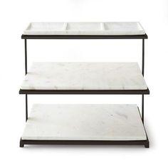 Marble & Bronze 3-Tiered Stand #williamssonoma