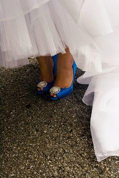 My something blue! #wedding #shoes #blue
