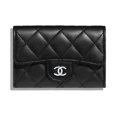 f44a237fbe4b Chanel Classic Card Holder (Flap) Black Caviar Leather Gold Hardware Chanel  Card Holder,