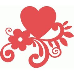 Silhouette Design Store: heart bouquet