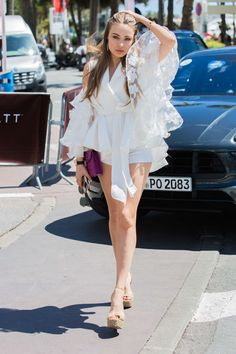 Xenia Tchoumitcheva at the Croisette in Cannes Fashion Models, Girl Fashion, Womens Fashion, Elite Model, Xenia Tchoumitcheva, Summer Outfits, Girl Outfits, Hair Images, Sensual