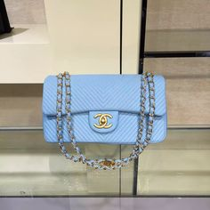Chanel Lambskin Flap Bag Embellished With Chevron Quilting Cruise 2016