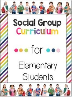 An entire social group curriculum for a year! This huge 80 page packet includes everything from starting up your first social group to providing engaging and organized lessons (with all materials needed) for 20 sessions. Your students will be learning functional, real-life skills needed in order to be successful members of society. Repinned by SOS Inc. Resources pinterest.com/sostherapy/.
