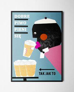 Plakat Dobre piwo B2, Zasada, lateks