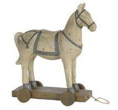 Vintage häst - Prydnad vit häst i vintage stil.  259:-