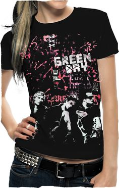 Green Day T-shirt - Womens Fashion - Official Green Day Band Merch - http://www.band-tees.com/istar.asp?a=6&id=G_00700_153!BRVDO