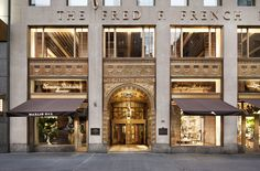Tommy Bahama Flagship Store, Restaurant and Bar Mall Design, Retail Design, Store Design, Entrance Design, Facade Design, French Buildings, Mall Facade, Classic House Design, Neoclassical Interior