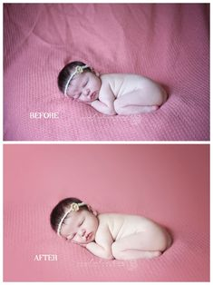 Before & After Newborn Session Edit - Spokane Newborn Photographer - Natalie Bee Photography