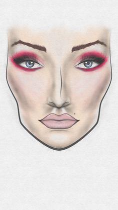 Glamzy 2 Face Chart - www.glamzy.com #glamzy #facechart #makeup