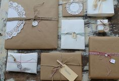Brown paper packages by Lovely Things