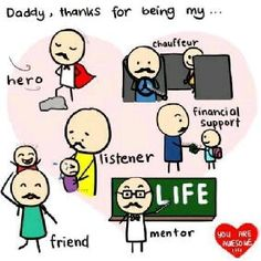 My dad are......