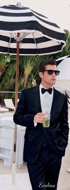 Connecticut Millionairess...........Cocktails by the pool   Sean O'Pry ~ GQ Germany ༺ß༻