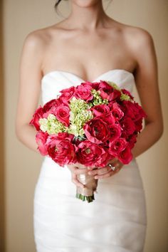 Fuschia roses, Peonies, and hydrangea.--love everything on this site