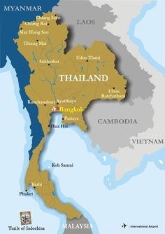 Thailand Map - Trails of Indochina