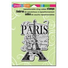 Stampendous Rubber Cling I Love Paris Stamp by CaninosArtisticCafe