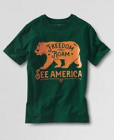 See America Lands' End Boy's Graphic T-Shirt | Frank Ozmun Graphic Design