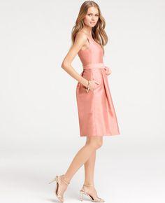 Ann Taylor - AT Dresses - Silk Dupioni V-Neck Bridesmaid Dress