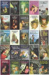 Nancy Drew series by Carolyn Keene. Holy cow, was I addicted to these as a child...I must have read at least 40 of them.