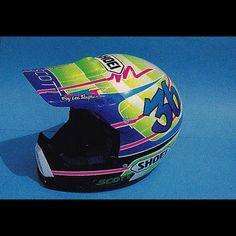 @emig47 's 1990 @troyleedesigns Shoei VX-5. #Supercross #CustomHelmetsRule #Motocross #90smoto