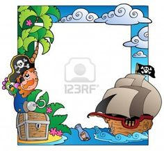 Image detail for -Frame With Sea And Pirate Theme Royalty Free Cliparts, Vectors, And ...