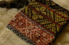 Traditional knitted pattern of Kihnu Island in the Baltic Sea. Estonia.