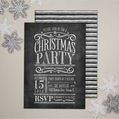 Image of Chalkboard Lettering Holiday Party Invite (set of 20)