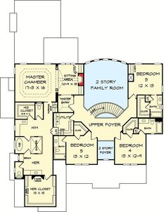 Plan 36033DK His And Her Bathrooms
