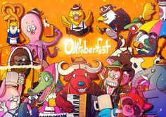 Special Animal Oktoberfest by Sakiroo Choi, via Behance