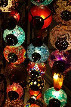 Turquia mercadillo de lamparas