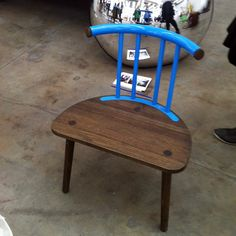 From Ventura Lambrate - I loved this little blue chair by Neven Kovacic, a reinterpretation of traditional katriga stools, as part of Croatian Holiday 2012, a collection of work inspired by tourism.