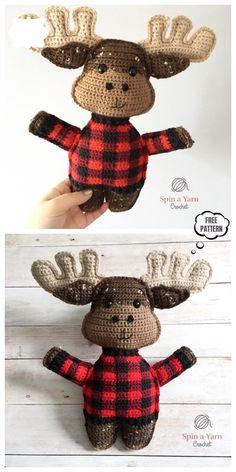 Crochet Deer, Tapestry Crochet, Crochet Yarn, Crochet Toys, Free Crochet, Crochet Applique Patterns Free, Amigurumi Patterns, Free Pattern, Crotchet Animals