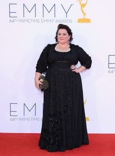 Melissa McCarthy Evening Dress - Melissa McCarthy looked ready for the Renaissance Fair in this black long-sleeve gown.