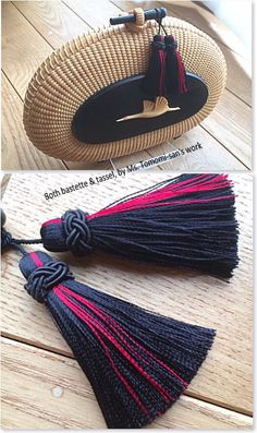 Natural Accessories, Diy Accessories, Diy Tassel, Tassel Jewelry, Nantucket Baskets, How To Make Tassels, Passementerie, Diy Earrings, Basket Weaving