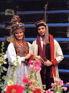 Costume of western Krakow region- a bride and bridegroom
