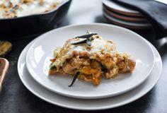 Butternut Squash Skillet Lasagna I howsweeteats.com