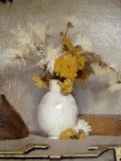 Frank Bramley was a member of the Newlyn School, a group of century on-the-spot painters in Cornwall, England. School Painting, Still Life Art, Caravaggio, Brush Strokes, Art World, Yellow Flowers, Flower Art, Drawings, Round Brush