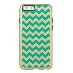 Teal Chevron Pattern Incipio Feather® Shine iPhone 6 Case