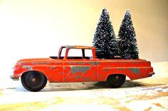 "... Christmas- 5 1/2"" Chevrolet El Camino Tootsie Toy Car - Carrying"