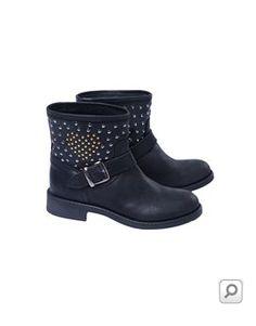 TillTwelve Girls Embellished Ankle Biker Boots