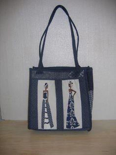 love this - shweshwe bag - The Sewing Room Johannesburg