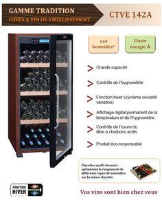La Sommeliere CTVE 142A pas cher prix promo Cave à vin Mistergooddeal 619.00 € TTC au lieu de 785 €