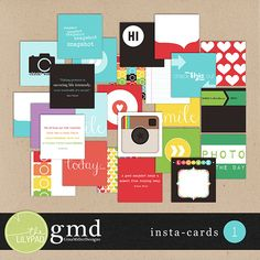 The Lilypad :: Element Packs :: Insta-Cards 1