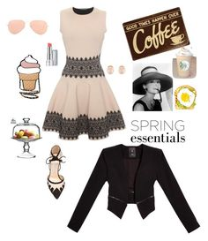 """ready for a brunch"" by griselvega420 ❤ liked on Polyvore featuring Alexander McQueen, Bionda Castana, Luxo, Ray-Ban, Kenneth Jay Lane, GUESS, Revlon and The Cellar"