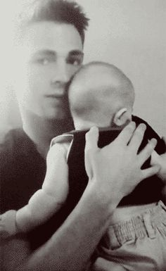 And in conclusion, here he is swaddling a baby. | 32 Things That Prove Colton Haynes Is The Most Beautiful Man Alive