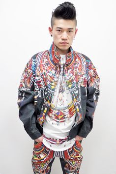African bead print jacket by KTZ.